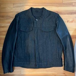 Motorcycle denim & leather jacket